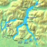 コモ湖の地図