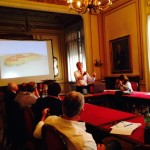Presenting a project to the Touring Club Italiano in Milan