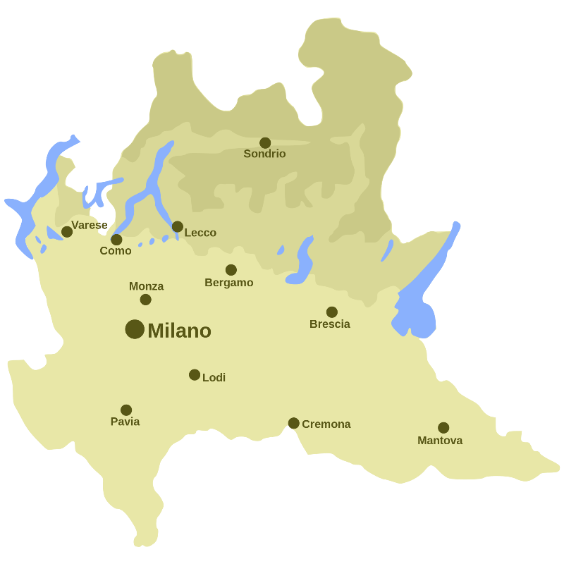 Carte Italie Lombardie.Tours Lac De Come Visites Guidees Itineraires Lombardie