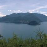 Lago de Como panorama desde Vezio Castillo Varenna