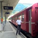 Швейцарский Тур Бернина красный поезд