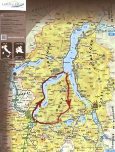 Mapa Tour 1 Lago de Como