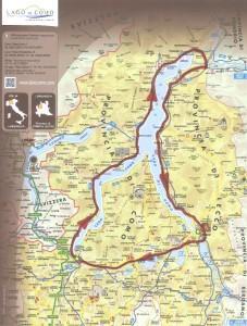 Mapa Tour 3 Lago de Como