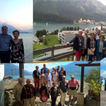 Happy people visiting Lake Como and Switzerland