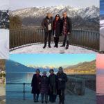 科莫湖周围的冬季旅游