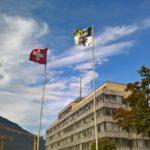 Bandiere della Svizzera e dei Grigioni