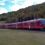 Red train of Bernina