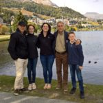 Happy family in Sankt Moritz guided tour