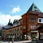 Sankt Moritz Palace Hotel and shopping streets