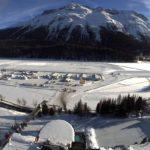 Lago Sankt Moritz in inverno