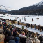 Sankt Moritz winter sports. Polo on the lake