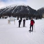 A short skiing while visiting Sankt Moritz