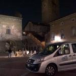 Bergamo Piazza Vecchia at night