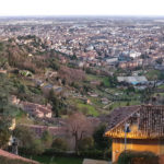 Bergamo view of the two towns Alta and Bassa