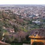 Bergamo vista sulla città Alta e Bassa