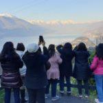 Lake Como view from mountain